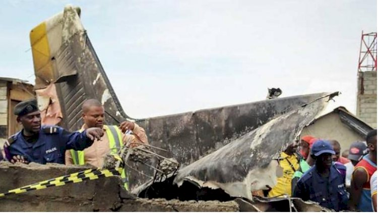 Customer plane crashed into  Congo homes, Killed 26 people