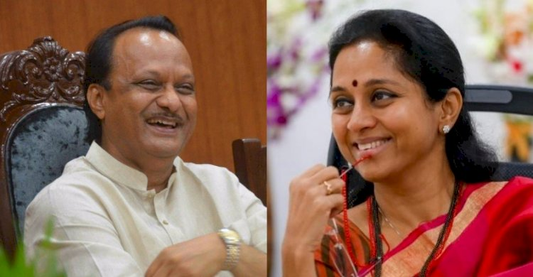 Supriya Sule welcomes Ajit Pawar with all smiles and Hugs