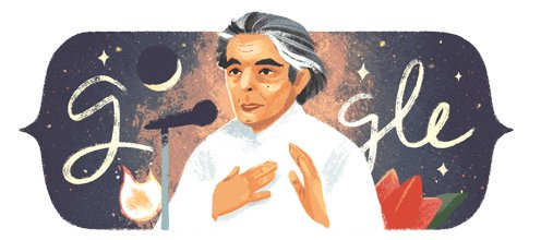 Google doodle celebrates 101st birthday of Famous Poet Kaifi Azmi