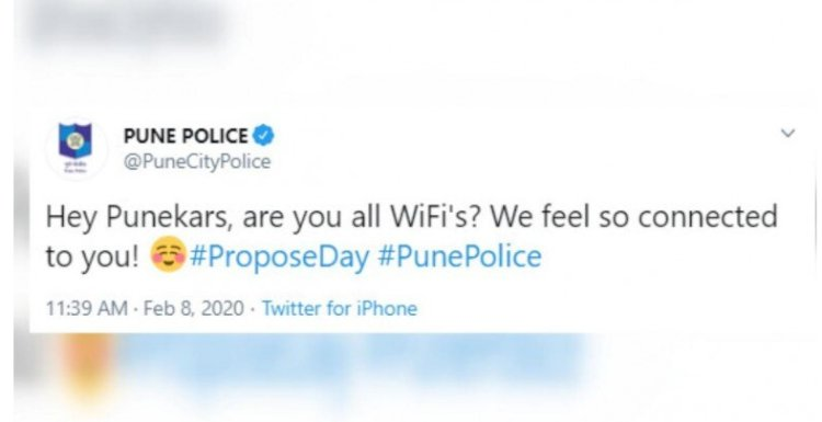 Pune Police shares hilarious post as Propose Day trends on Twitter.