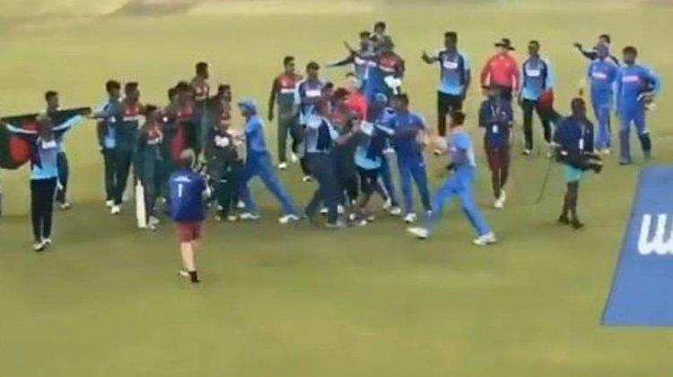 'Shameful end': India and Bangladesh players involved in ugly fight after U19 World Cup final