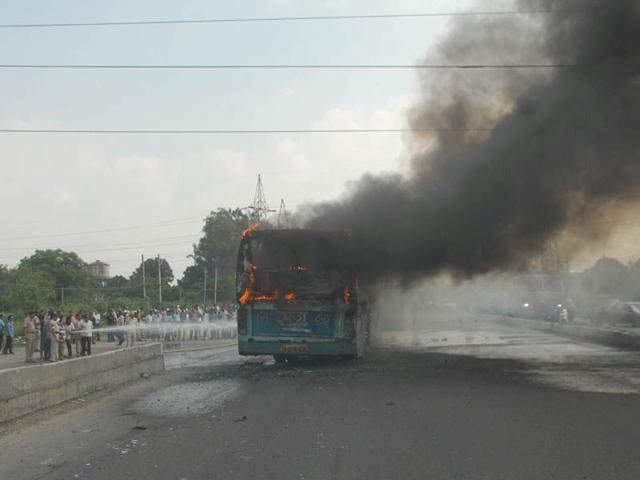 Punjab: 4 kids burnt to death after school bus catches fire in Sangrur