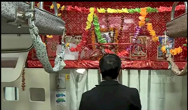 Seat Number 64 On train launched By PM Modi turned into Lord Shiva's temple