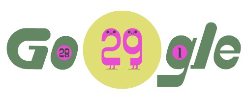 Google Doodle celebrates leap day 2020 with jumping logo