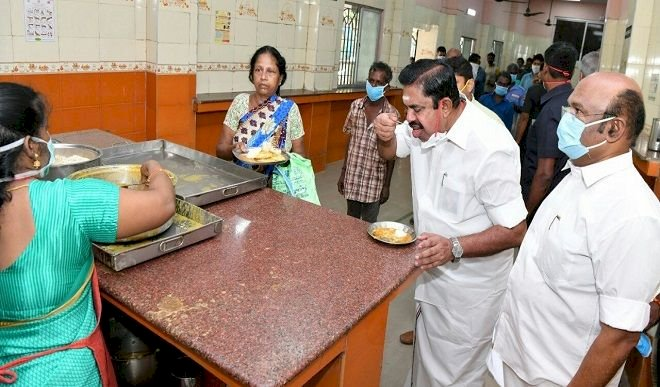 Tamil Nadu Chief Minister Leads Surprise Check At Amma Canteen, Has Idli